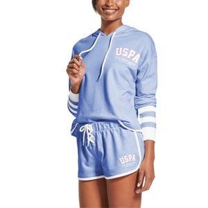 U.S. Polo Assn. Hoodie and Shorts Set